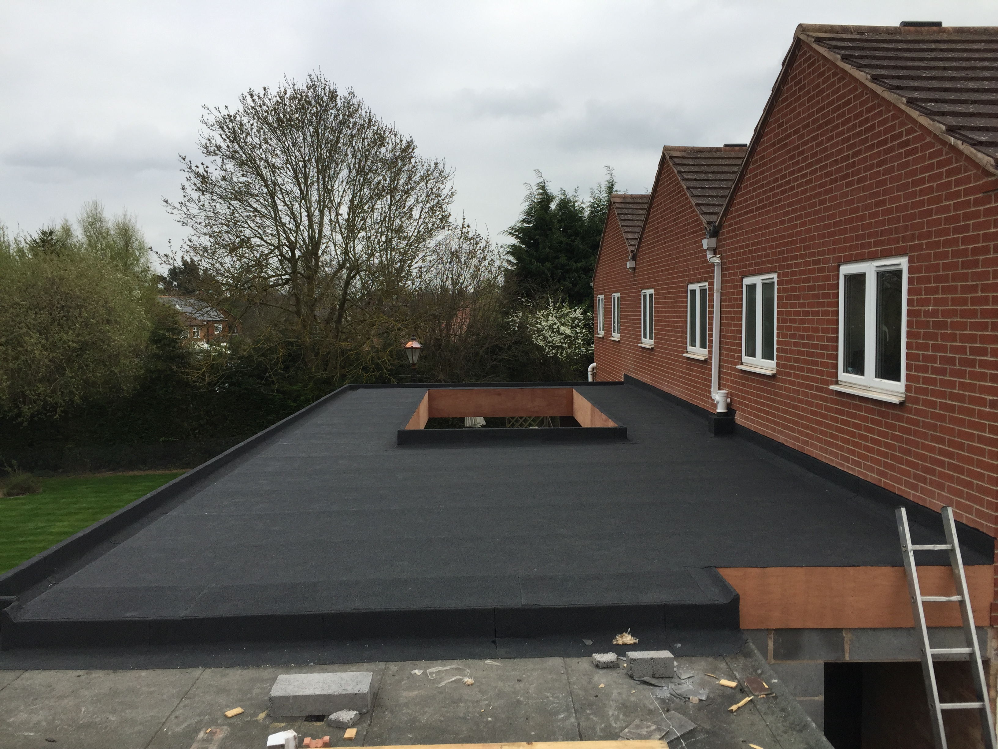 Residential Extension Flat Roofing